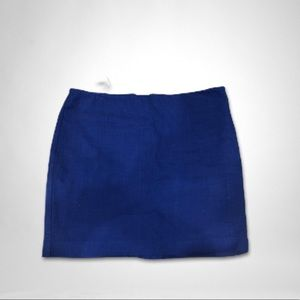 Women Banana Republic Mini Skirt Royal Blue 12